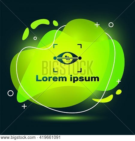 Black Eye Scan Icon Isolated On Black Background. Scanning Eye. Security Check Symbol. Cyber Eye Sig