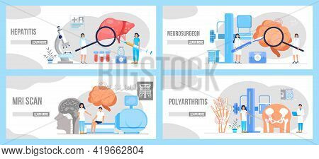 Hepatitis A, B, C, D, Cirrhosis, World Hepatitis Day. Tiny Doctors Treat Liver. Encephalogram, Neuro
