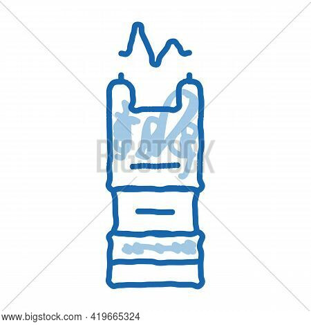 Stunning Electric Shock Sketch Icon Vector. Hand Drawn Blue Doodle Line Art Stunning Electric Shock