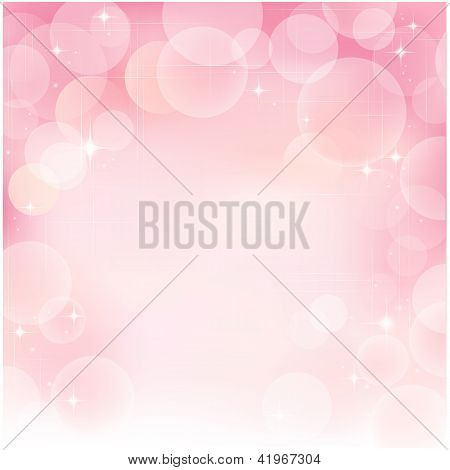 Pink Abstract Bubble Background