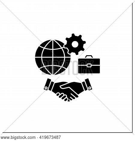 Inclusive Culture Glyph Icon. Respect, Equity, Positive Differences Recognition. Etiquette. Equal Em