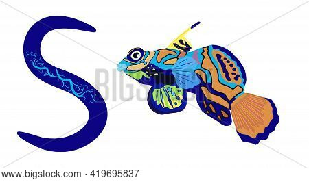 Letter S Lowercase Cute Children Colorful Zoo And Animals Abc Alphabet Tracing Flashcard Of Mandarin