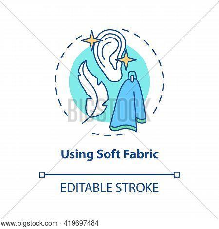 Using Soft Fabric Concept Icon. Ear Hygiene Method Idea Thin Line Illustration. Wiping Ear Exterior