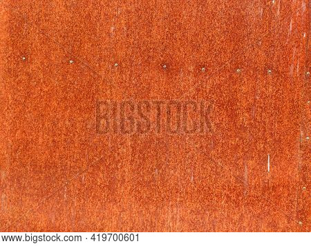 Grunge Rusted Metal Texture. Rusty Corrosion And Oxidized Background. Worn Metallic Iron Rusty Metal