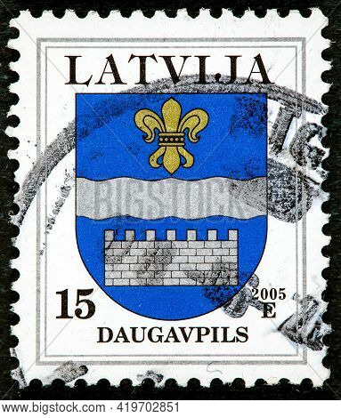 Latvia - Circa 2007: A Stamp Printed In Latvia From The