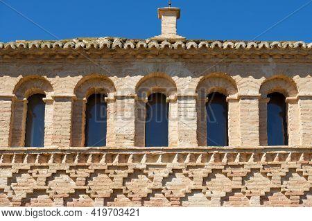 Mudejar building, named as Casa de la Estanca, in Borja, Zaragoza Province, Aragon in Spain.