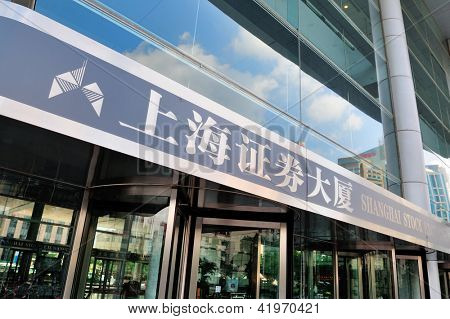SHANGHAI, CHINA - JUNE 2: Shanghai Stock Exchange closeup on JUNE 2, 2012 in Shanghai, China. It is one of the two stock exchanges and the world's 5th largest market of $2.3 trillion as of Dec 2011.