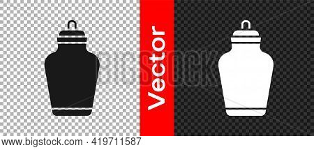 Black Funeral Urn Icon Isolated On Transparent Background. Cremation And Burial Containers, Columbar