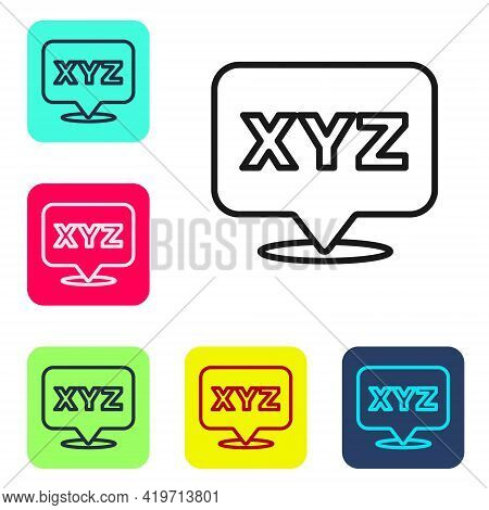 Black Line Xyz Coordinate System Icon Isolated On White Background. Xyz Axis For Graph Statistics Di