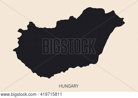 Highly Detailed Hungary Map With Borders Isolated On Background
