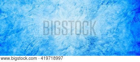 Soft And Dark Blue Gradient Cement And Concrete Backdrop Background