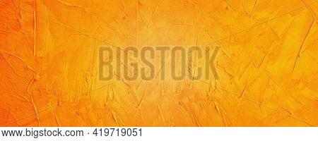 Dark Yellow And Orange Cement Horizontal Banner Background