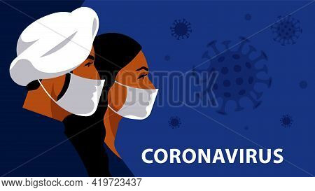 Indian People In Respiratory Mask. Coronavirus Alarm, Protection And Prevention In India, The Indian