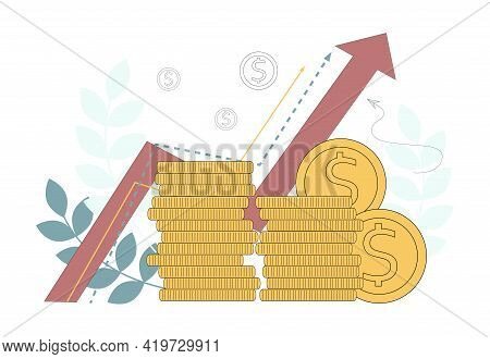 Successful Business. Financial Success, Consulting, Investing. Enrichment, Multiplication Of Money.