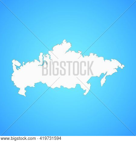 Highly Detailed Russian Federation Map With Borders Isolated On Background. Flat Style