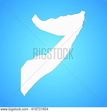 Highly Detailed Somalia Map With Borders Isolated On Background. Flat Style
