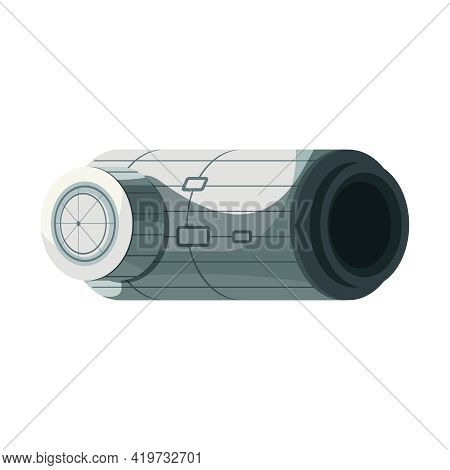 Cartoon Icon Of Orbital International Space Station Module Vector Illustration