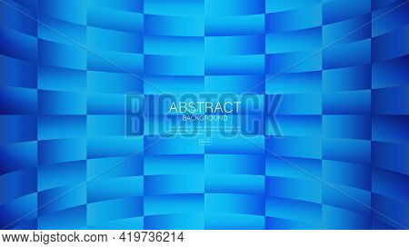 Blue Abstract Background, Square Pattern Background, Graphic Design, Minimal Texture, Cover Design,