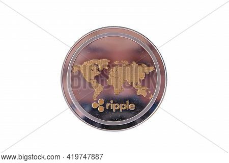 Cryptocurrency Coin On White Background And Digital Currency Money Concept,cryptocurrency Financial