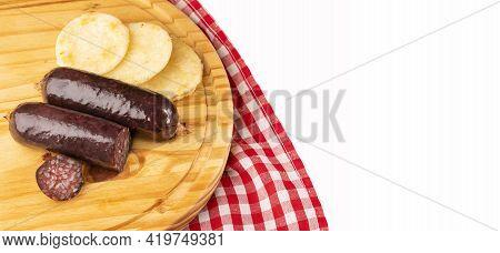 Blood Sausage Morcilla - Arepa Ground Base Of Ground Dry Corn.