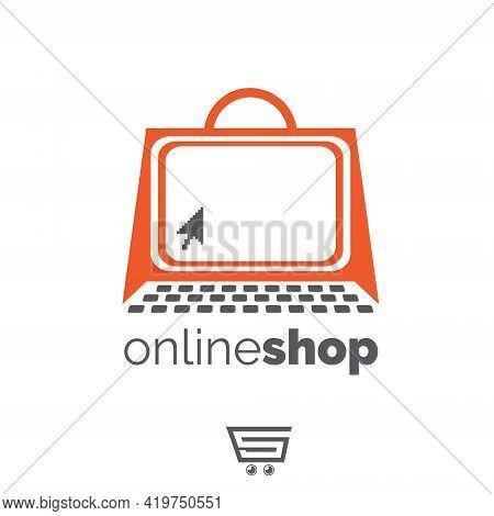 Online Shop Symbol Set Consumerism Concept Vector