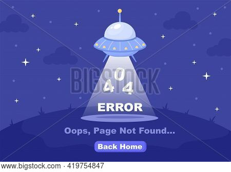 404 Error And Page Not Found Vector Illustration. Lost Connect Problem, Warning Sign, Or Site Breakd