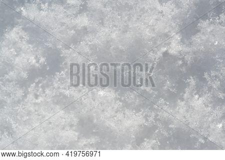 Winter Snow Background. White Snowy Texture. Snow Pattern, Ice Snowy Background, Winter Textures.