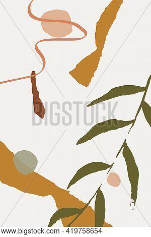 Nude Elements Set Vector Memphis Background. Lady Feminine Backdrop. Drawing Summer Invitation. Gray