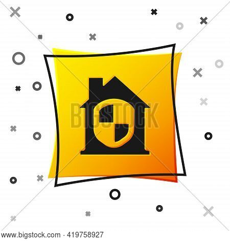 Black House Under Protection Icon Isolated On White Background. Home And Shield. Protection, Safety,