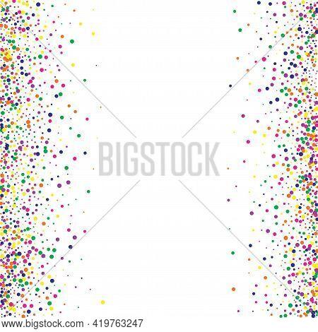 Color Polka Carnaval White Background. Carnival