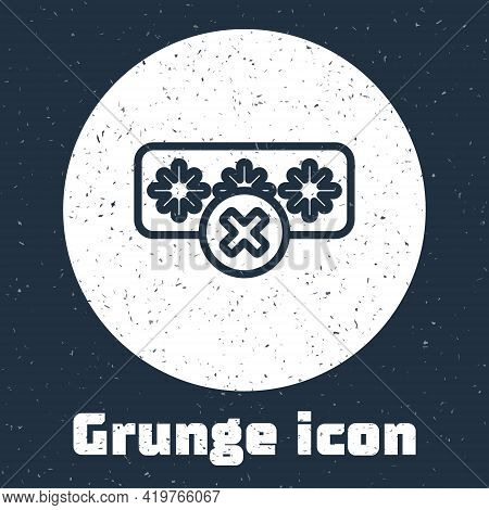 Grunge Line Password Protection And Safety Access Icon Isolated On Grey Background. Security, Safety