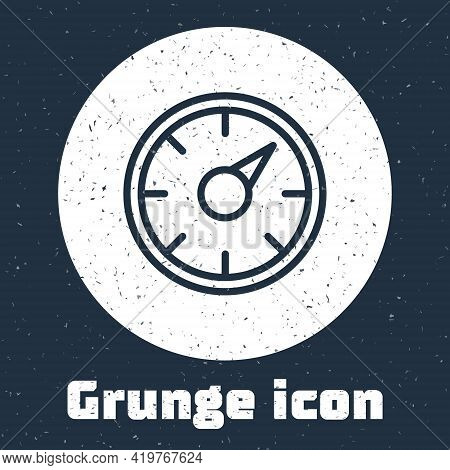 Grunge Line Digital Speed Meter Concept With 5g Icon Isolated On Grey Background. Global Network Hig