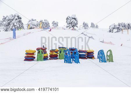Outdoors Winter Sledding