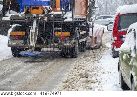 Winter Snow Removal Concept