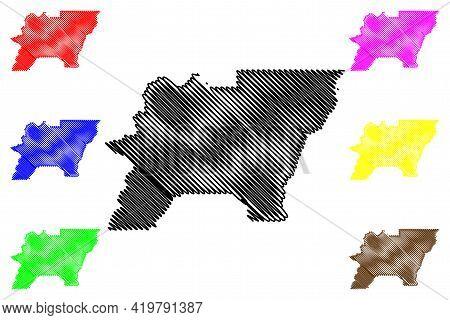 Baker County, Oregon State (u.s. County, United States Of America, Usa, U.s., Us) Map Vector Illustr