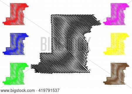Benton County, Oregon State (u.s. County, United States Of America, Usa, U.s., Us) Map Vector Illust