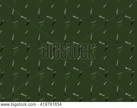 Green Ajrak Block Print Abstract Geometric Block Pattern For Textile Design Background Wall Paper Ti