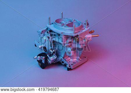 Car Carburetor For Internal Combustion Engine For Mixing Air With A Fine Spray Of Liquid Fuel Illumi