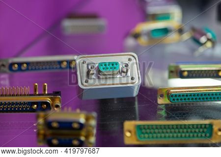 Moscow, Russia - 14 April 2021 : Boards, Assemblies And Components For Microelectronics At Exhibitio