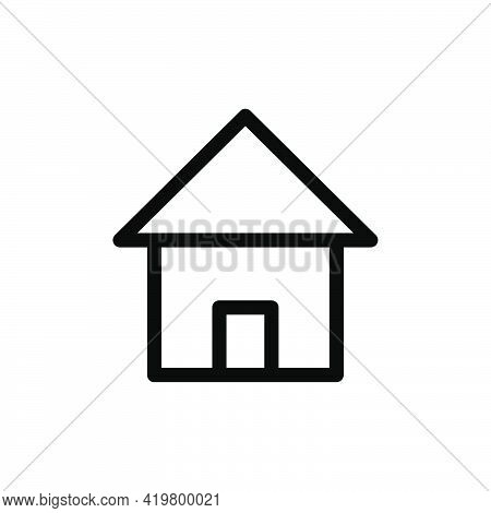 House, Home, Icon, Vector, Pictogram, Mortgage, Simple, Flat, Symbol, Web, Silhouette, Small, Busine