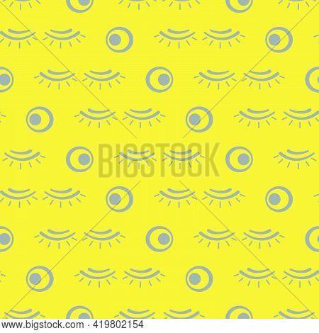 Vector Seamless Pattern With Eyelashes. Decorative Cosmetics, Makeup Background. Glamour Fashion Vog