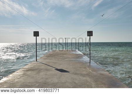 Emma Carrero Cates Pier At Southernmost Point Of Continental Us In Key West