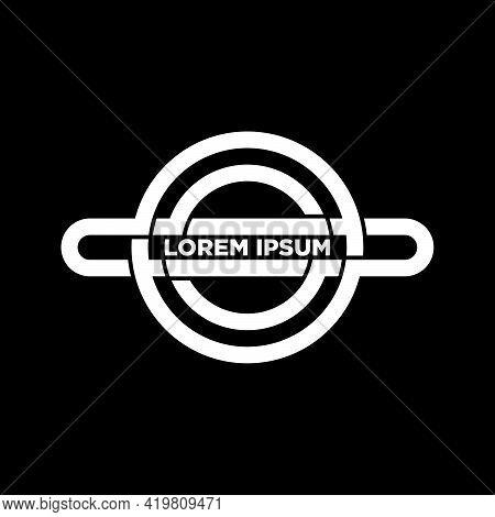 Circle Ellipse Logo Template In Flat Design Monogram Illustration