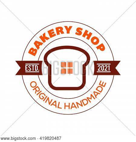 Bakery Bread Logo Template, Bread Shop House Bread And Bakery Logo Vector Icon Illustration,