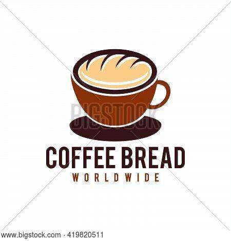 Bread Coffee Logo Vector Icon Illustration