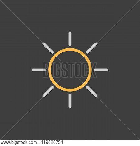 Sun Vector Icon. Symbol Of The Good Weather