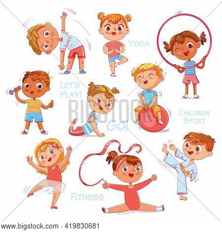 Sport For Kids. Physical Training, Fitness, Karate, Yoga, Aerobics, Gymnastics, Dancing. Lets Play.