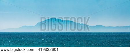 Tarifa, Spain. Oast Of Africa, Which Can Be Seen From Tarifa - The Southernmost Point Of Spain And E
