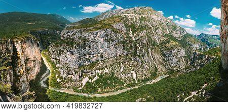 Verdon, France. Landscape Of The Gorges Du Verdon In South-eastern France. Provence-alpes-cote Dazur