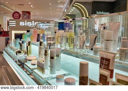 KUALA LUMPUR, MALAYSIA - CIRCA JANUARY, 2020: personal care products on display at Pavilion Kuala Lumpur shopping centre.